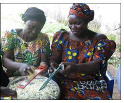 Winrock volunteer teaches food security in Nigeria