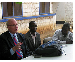 Scholarship recipients from GEE program meet with the education advisor to the U.S. Special Envoy to Sudan