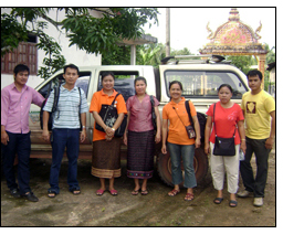 A bi-country team in Cambodia and Lao PDR researched Avian Influeza control and prevention measures.