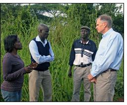The U.S. Ambassador to Uganda visits officials with NUDEIL.