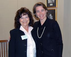 Winrock's Annett Pagan with Arkansas Senator Blanche Lincoln