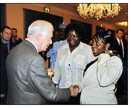 Winrock's SAFE program was highlighted at a symposium in Ethiopia, attended by President Jimmy Carter.