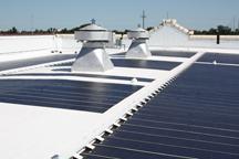 Solar Array on Warren Easton High School Roof