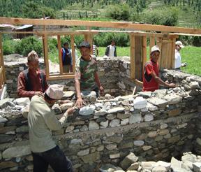 Stonemasons at work in Nepal