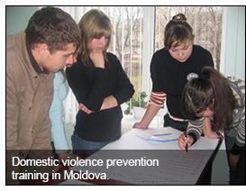 Domestic violence training in Moldova.