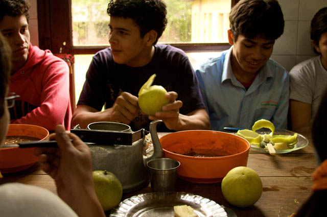 food enterprise and farm school students in Paraguay