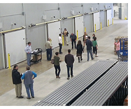 Warehouse tour at Cherry Capital Foods