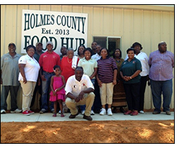 Holmes County Food Hub employees.