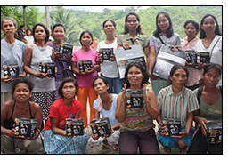 Solar lanterns provide entrepreneurial opportunities for women in the Philippines.