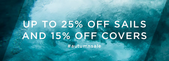 Its sale, sail season - Up to 25% off sails 15% off covers