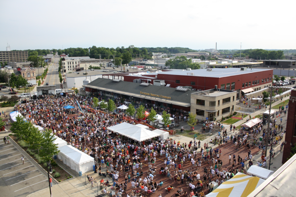 Founders Fest 2011 aerial view