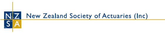 New Zealand Society of Actuaries (Inc) PRESIDENT'S NEWSLETTER