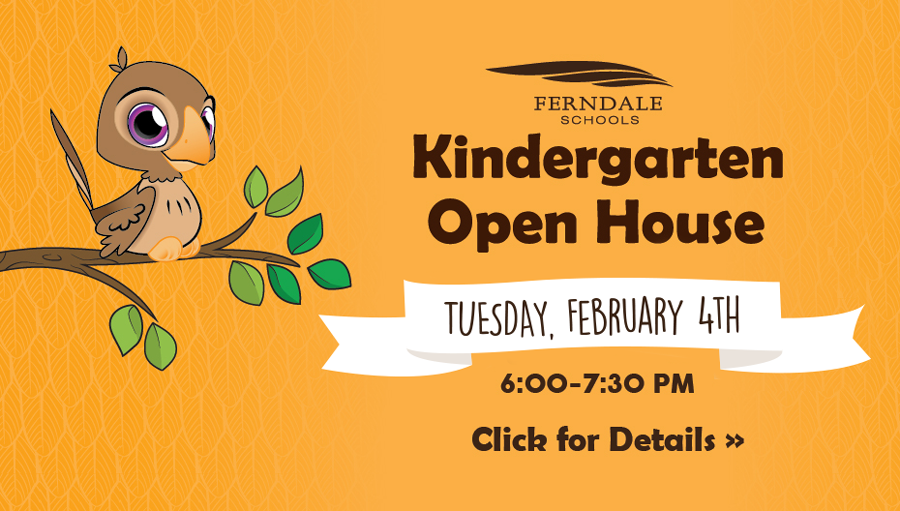 Kindergarten Open House is Tuesday, February 4th from 6:30 - 7:30 pm. Click for Details.