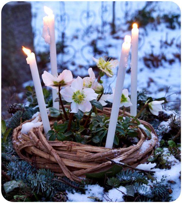 Snowy Imbolc wreath