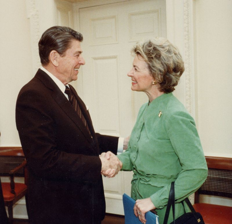 President Ronald Reagan and Phyllis Schlafly