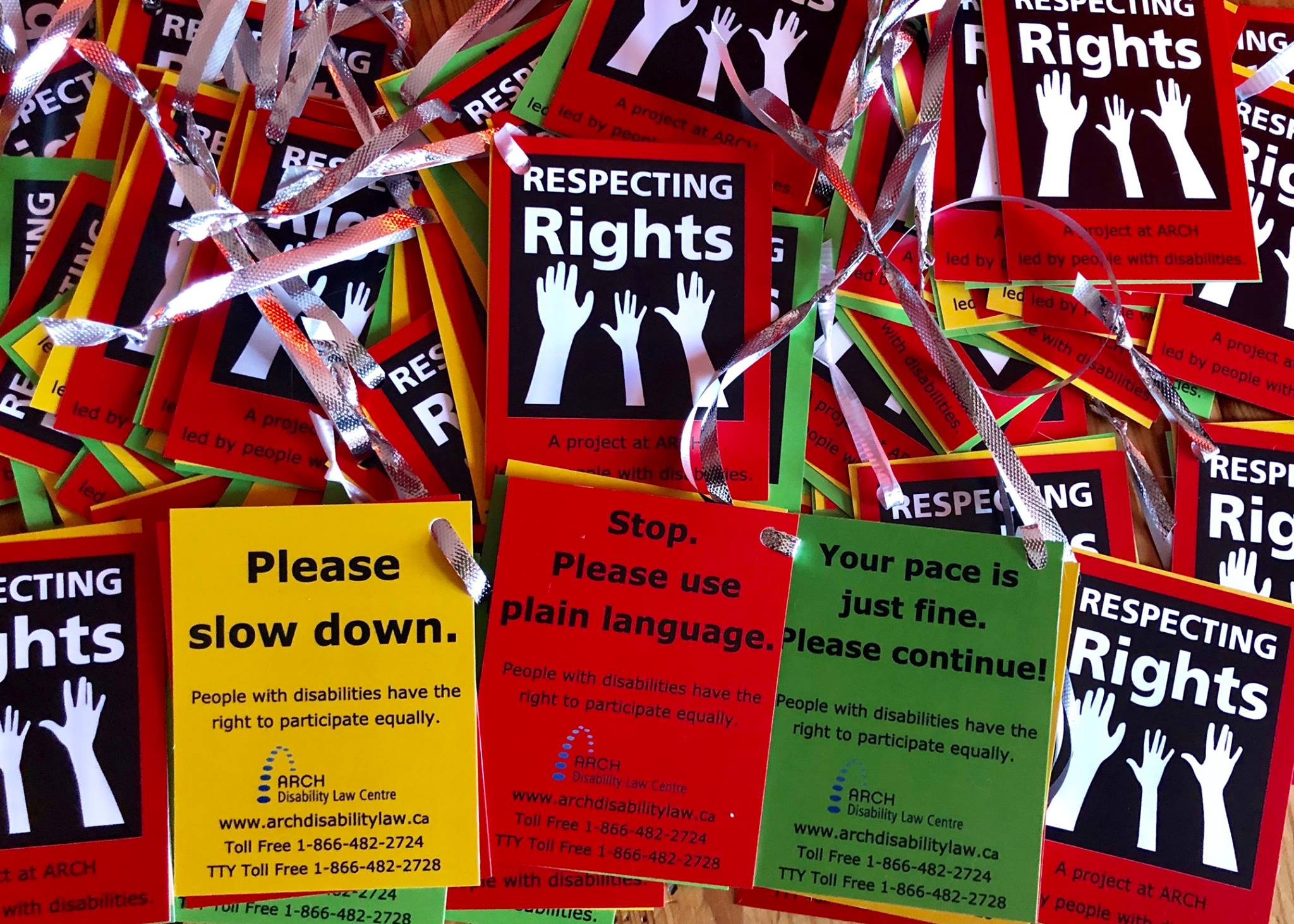 photo of Respecting Rights cards