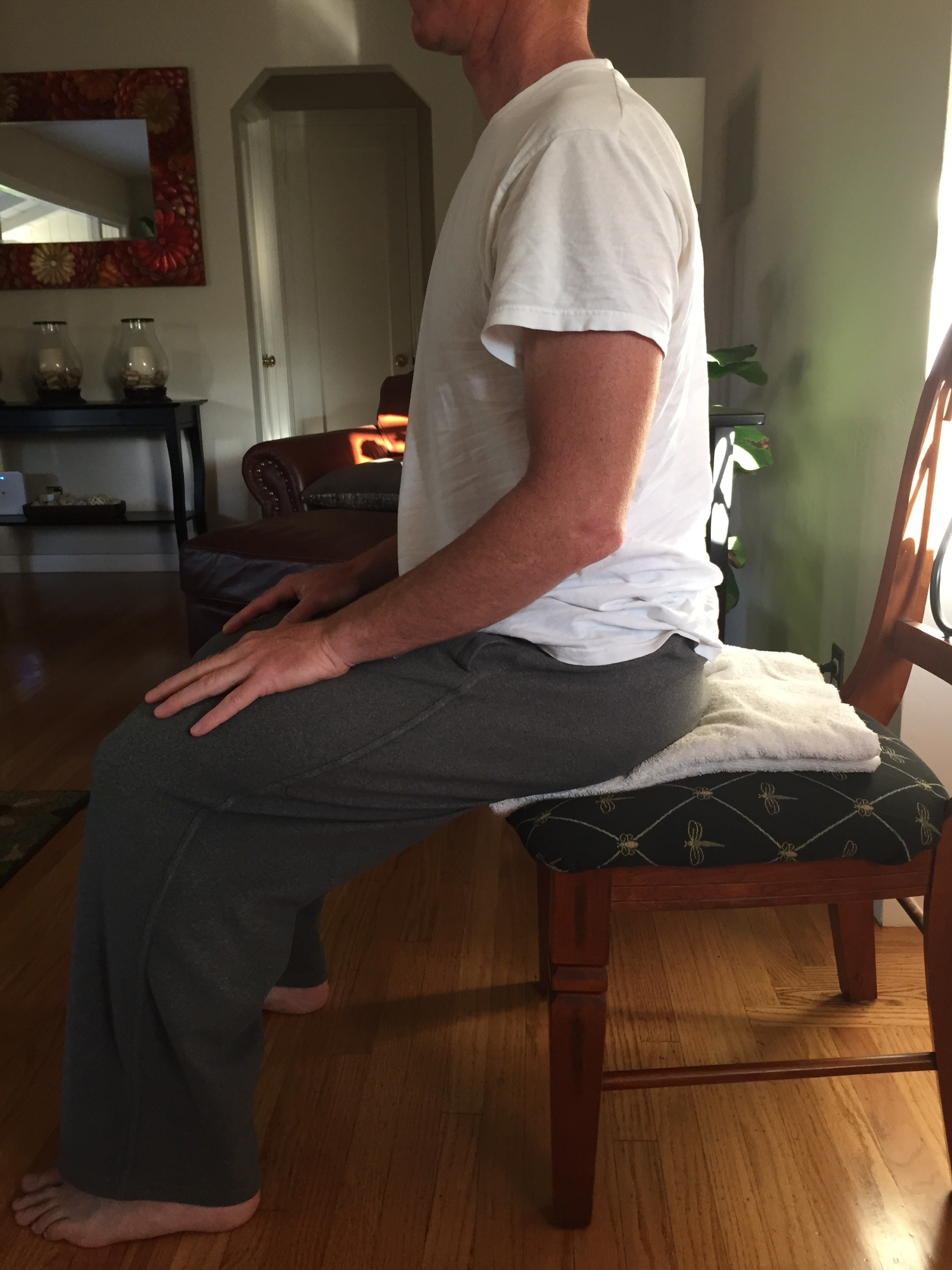 meditation in a chair