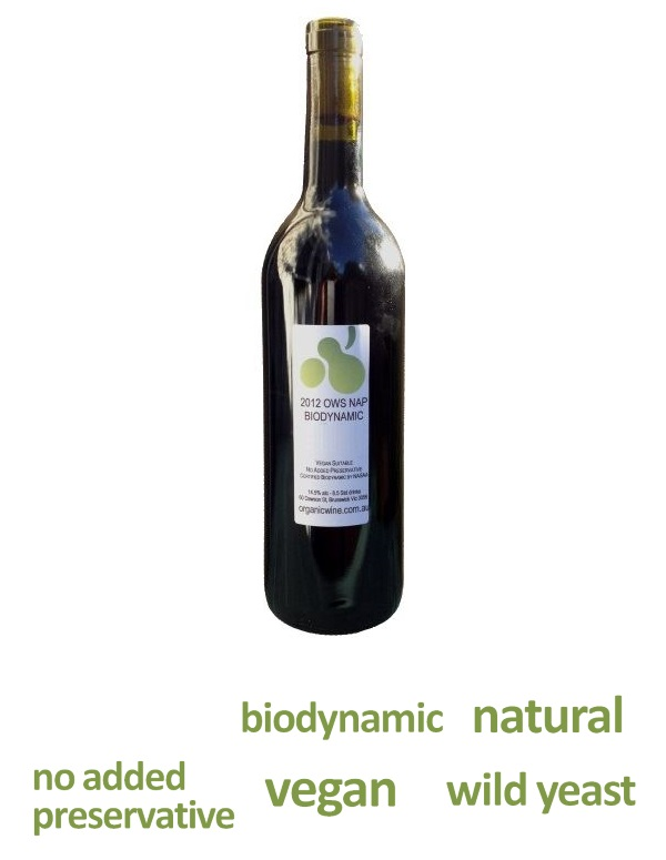 Image of OWS NAP Biodynamic Shiraz 2012