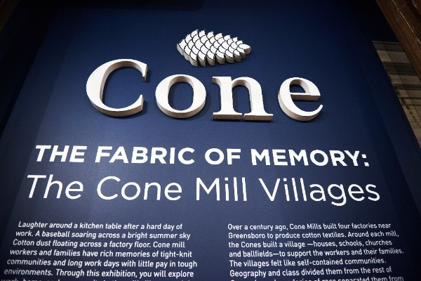Cone history sign