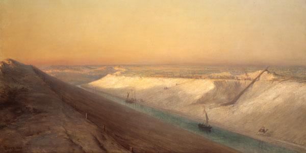 François Pierre Barry, Le Chantier n°5 : vue du Canal de Suez, 1863, © Souvenir de Ferdinand de Lesseps et du Canal de Suez / Lebas Photographie Paris