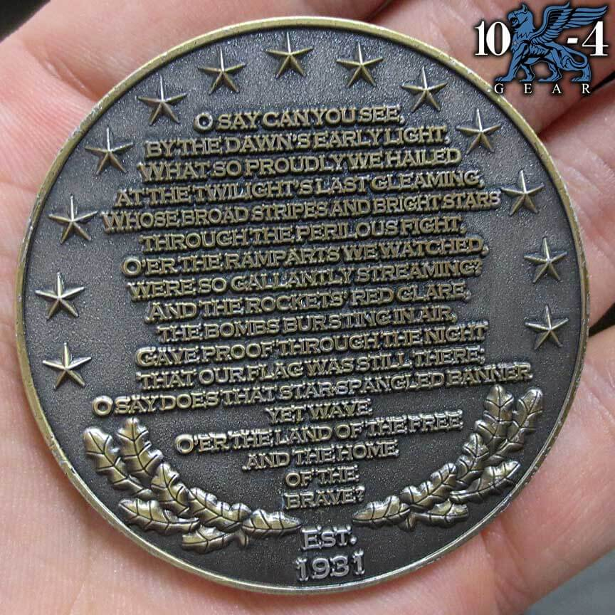 American Citizen National Anthem coin