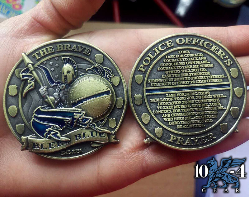 Police Officers prayer coin