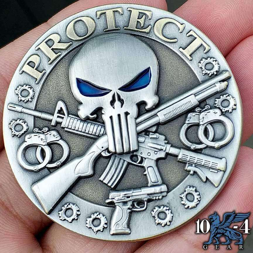 Protect and Serve Custom engraved coin