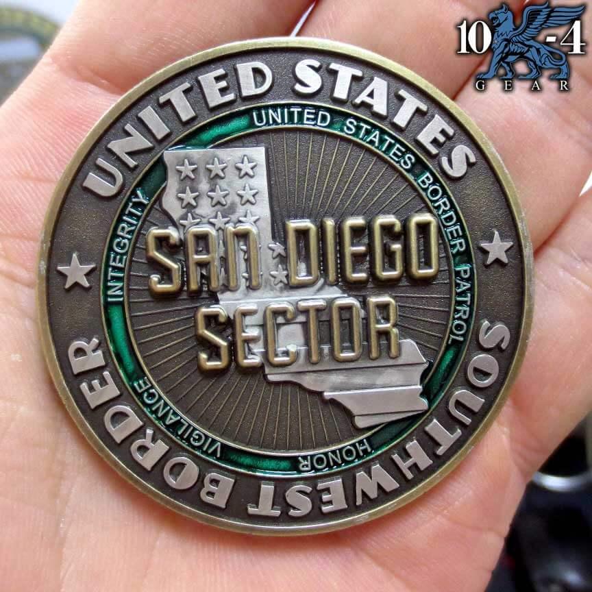 Border Patrol San Diego Coin