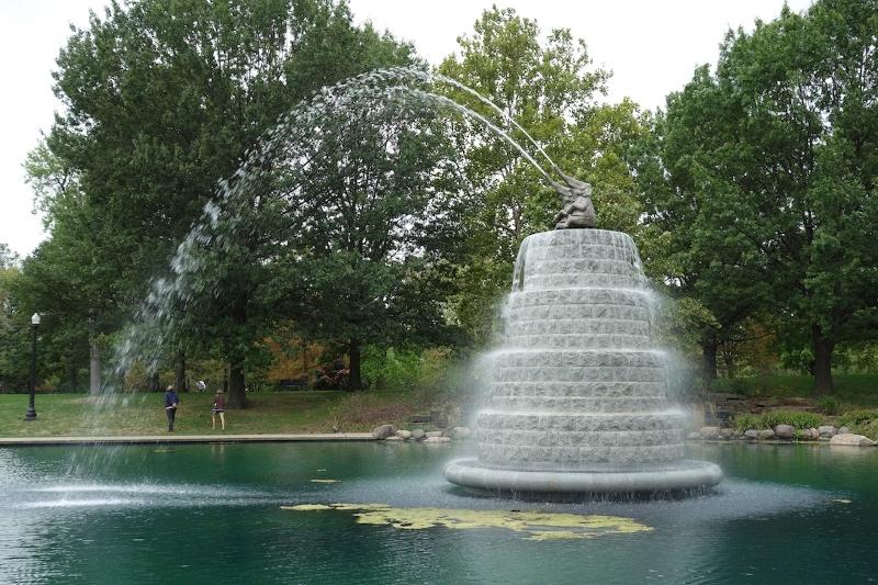 Fountain in summer