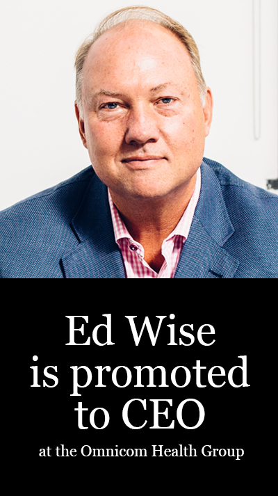 Ed Wise is promoted to CEO at the Omnicon Health Group