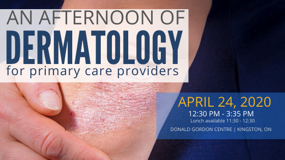 An afternoon of Dermatology: April 24, 2020
