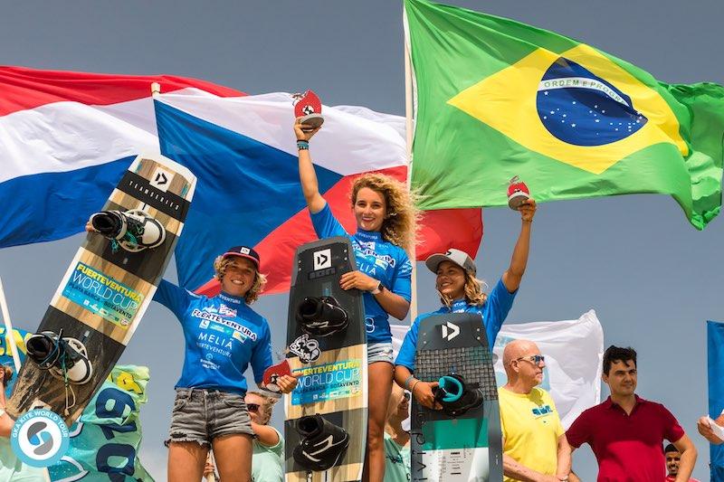 GKA Freestyle World Cup Fuerteventura 2019 - Women's Podium