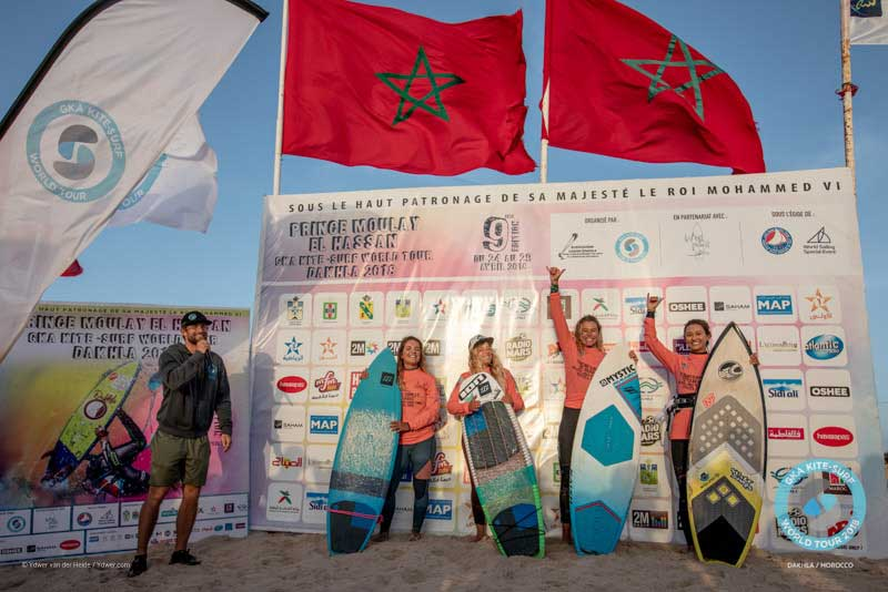 GKA Kite-Surf World Tour Dakhla 2018 Finals - Women's Podium