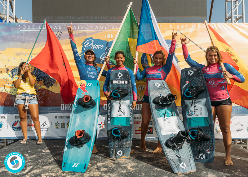 Women's GKA Dakhla podium
