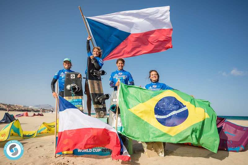 GKA Freestyle World Cup Fuerteventura - Women's Podium