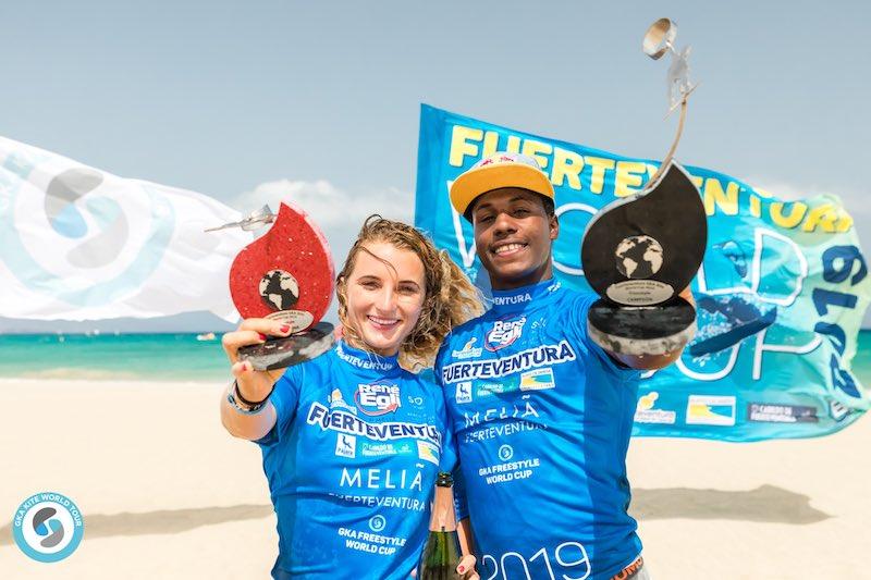 GKA Freestyle World Cup Fuerteventura 2019 - Paula Novotna and Adeuri Corniel