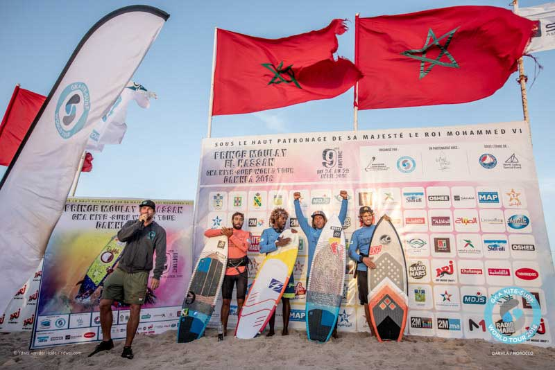 GKA Kite-Surf World Tour Dakhla 2018 Finals - Men's Podium