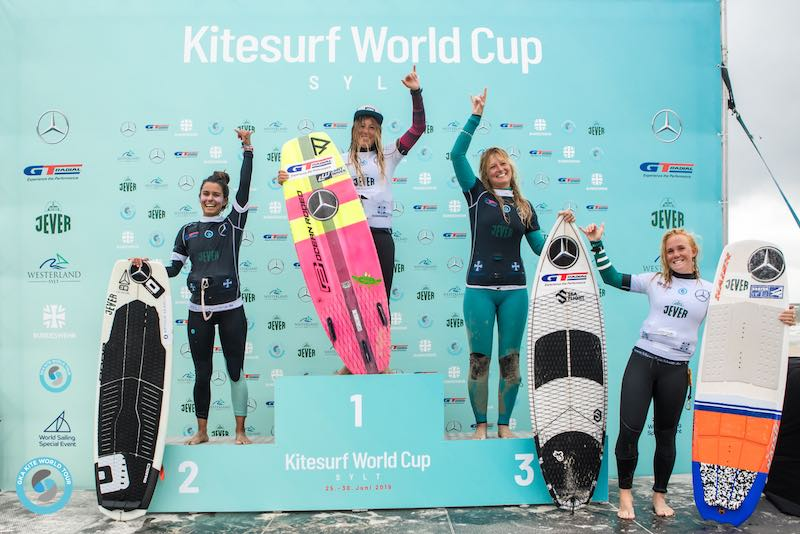 Women's podium GKA Kite-Surf World Cup Sylt 2019