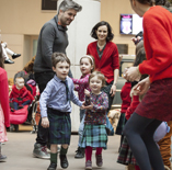 Families enjoying a ceilidh at the National Museum of Scotland copyright Ruth Armstrong Photography