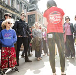 People on a walking tour