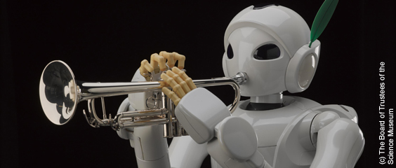 Trumpet playing robot Harry (c) The Board of Trustees of the Science Museum