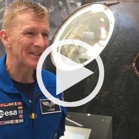 Tim Peake at the National Museum of Scotland (c) National Museums Scotland