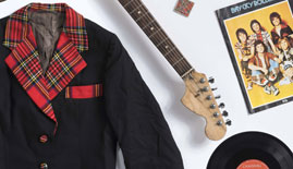 Bay City Rollers objects on loan from a private collection