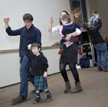 Ceilidh dancing in Hawthornden Court copyright Ruth Armstrong Photography