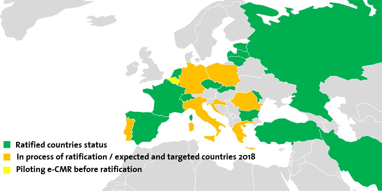 Ratified countries status e-CMR