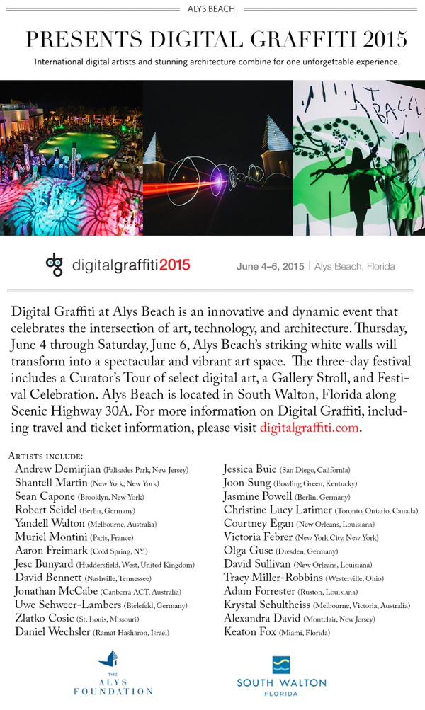 Digital Graffiti at Alys Beach