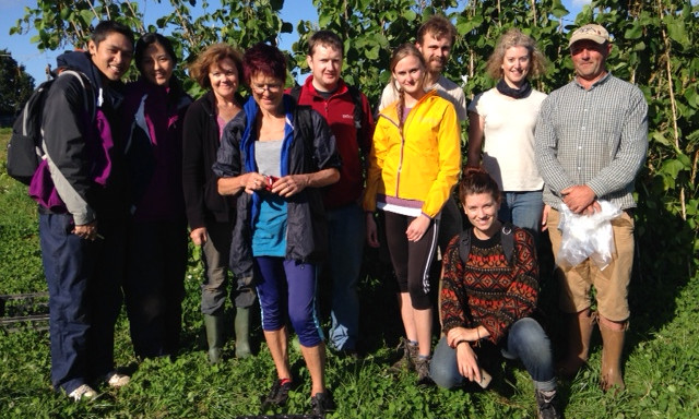 A group of Community Farm volunteers