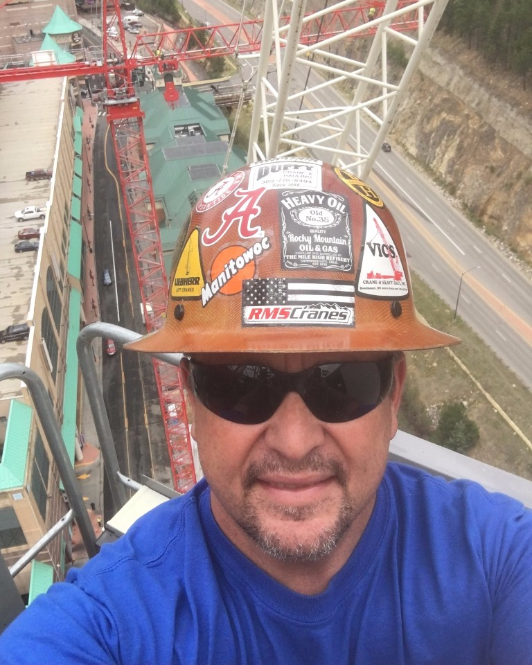 TOWER CRANE OPERATOR TIM PHILLIPS