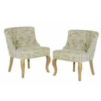 2 french script venice chairs