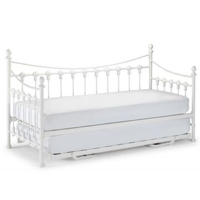 french valentina day bed in ivory white